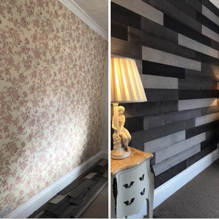 Transform your walls peel & stick before and after